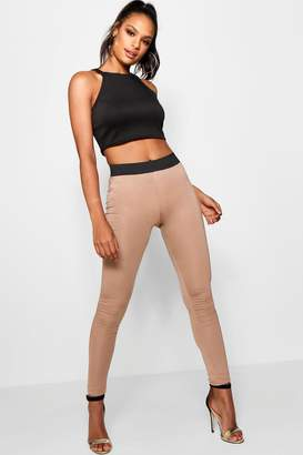 boohoo Tall Contrast Waistband Leggings