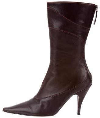 Anya Hindmarch Leather Pointed-Toe Boots