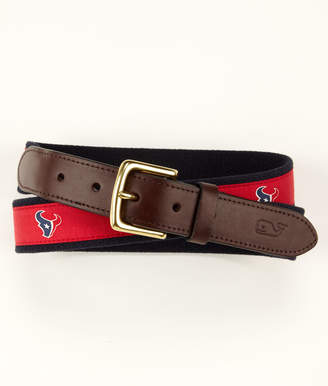 Vineyard Vines Houston Texans Canvas Club Belt