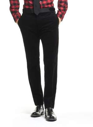 Todd Snyder Made in USA Black Micro Cord Tuxedo Trouser