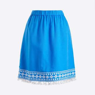 J.Crew Factory Pull-on tassle mini skirt