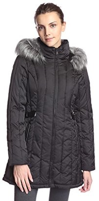 Nautica Women's Puffer Coat with Side Tabs $102.54 thestylecure.com