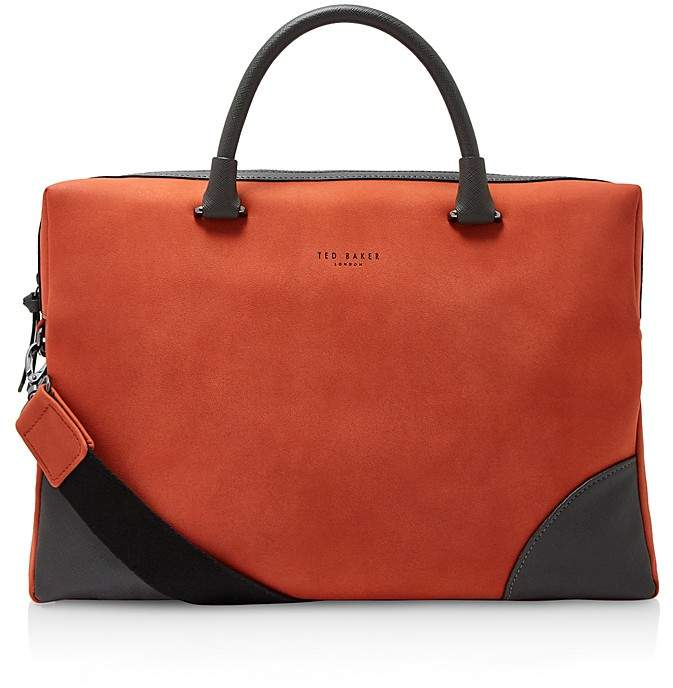 Ted Baker Dayof Faux Nubuck Document Bag