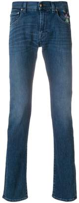Etro embroidered slim-fit jeans