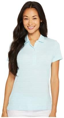 Puma Heather Stripe Polo Women's Short Sleeve Pullover