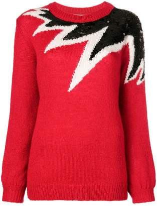 Aniye By sequinned colour block sweater