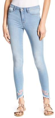 William Rast Floral Embroidered Sculpted Jeans
