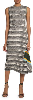 Victoria Beckham Striped Asymmetric Sweater Dress