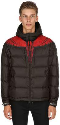 Marcelo Burlon County of Milan Wings Printed Hooded Nylon Down Jacket