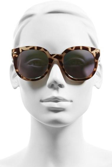 Junior Women's Bp. 52Mm Oversize Mirrored Sunglasses - Green/grey Tort 2