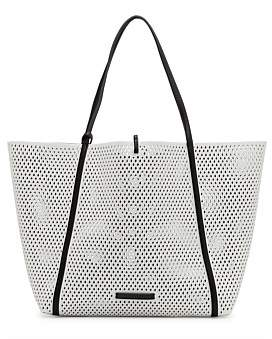 Armani Exchange Cut Out Tote With Blue Shoulder Strap