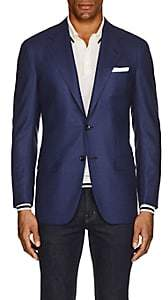 Kiton Men's KB Neat Cashmere Two-Button Sportcoat-Blue