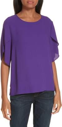 Eileen Fisher Tulip Sleeve Silk Top