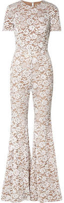 Michael Kors Guipure Lace Jumpsuit - White