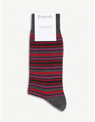 Pantherella Piper superfine merino wool striped sock