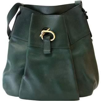 Delvaux Green Leather Handbags