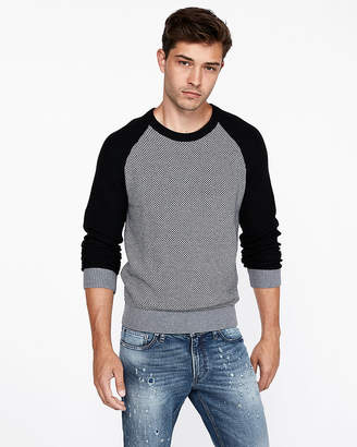 Express Textured Cotton Crew Neck Sweater