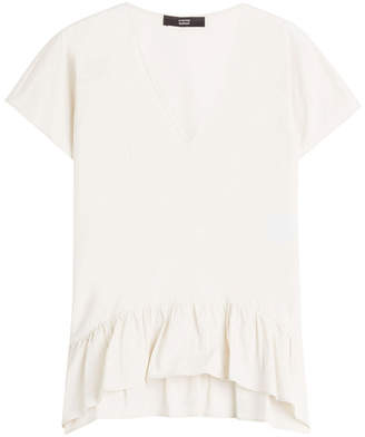 Steffen Schraut Top with Ruffled Hem
