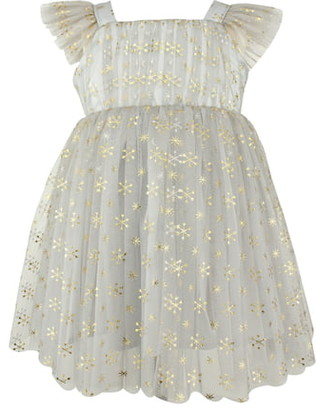Popatu Metallic Star & Snowflake Tulle Dress