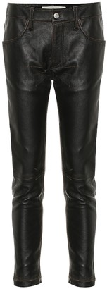 Golden Goose Jolly mid-rise leather pants