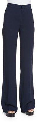 Derek Lam Georgia High-Waist Flare-Leg Trousers, Navy $895 thestylecure.com
