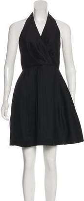 Halston Knee-Length Halter Dress