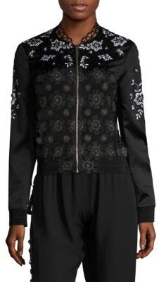 Elie Tahari Brandy Lace Embroidered Jacket $498 thestylecure.com