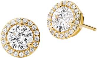 Michael Kors Sterling Silver Crystal Stud Earrings