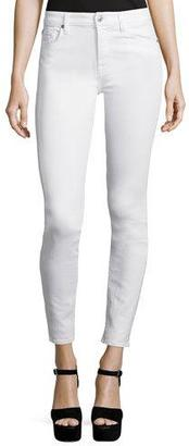 7 For All Mankind The Skinny Ankle Jeans, White $158 thestylecure.com