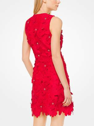 MICHAEL Michael Kors Floral Applique Lace Dress