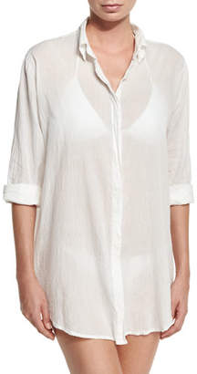 Letarte Button-Front Beach Shirt