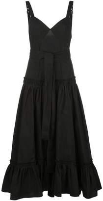 Proenza Schouler Sleeveless Tiered Cotton Poplin Dress