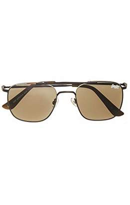 Superdry Men's SDR GLACIUS Sunglasses, (Matte Silver), 55.0