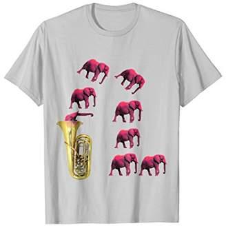 Tuba Funny Elephant T-Shirt