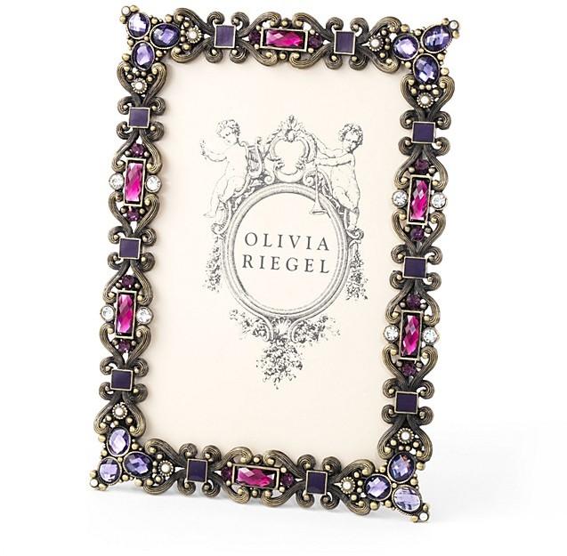 "Cambridge Silversmiths Olivia Riegel Amethyst Frame, 4"" x 6"""