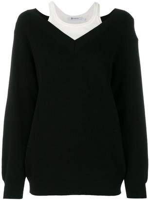 Alexander Wang layered V-neck jumper