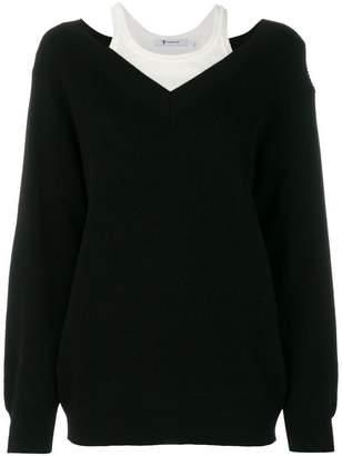 Alexander Wang layered V-neck jumper