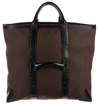 Tom Ford Leather-Trimmed Canvas Tote