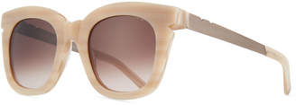 BEIGE Pared Eyewear Pools & Palms Notched Square Sunglasses,