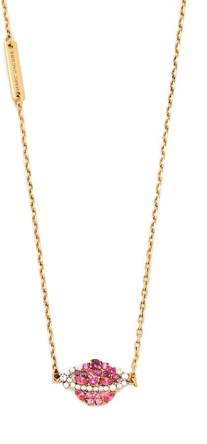 Marc JacobsMarc Jacobs Strass Planet Pendant Necklace