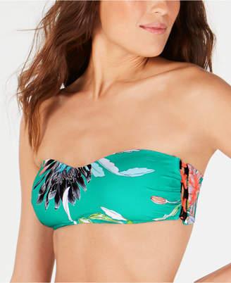 Trina Turk Shangri La Floral Bandeau Bikini Top Women Swimsuit