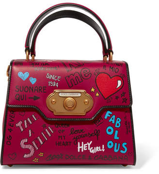 Dolce & Gabbana Welcome Medium Printed Leather Tote - Red