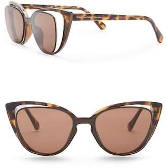 Diane von Furstenberg Cat Eye 50mm Acetate Frame Sunglasses