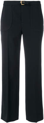 RED Valentino pleated cropped slim trousers