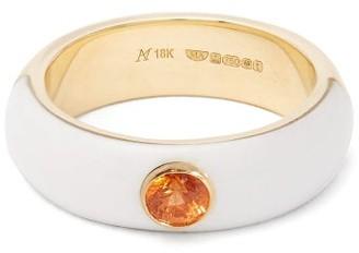 Marc Alary Belsa Sapphire & 18kt Gold Ring - Womens - Yellow Gold