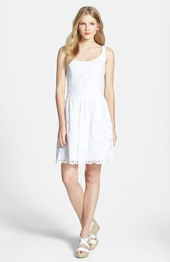 Lilly Pulitzer 'Calhoun' Scoop Neck Cotton Lace Dress