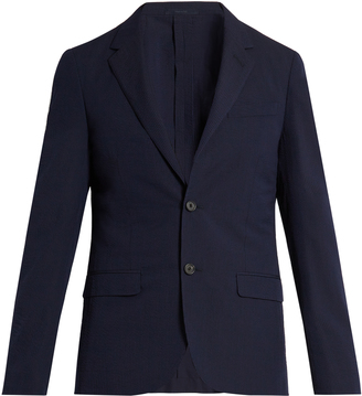 LANVIN Single-breasted seersucker wool-blend blazer $1,873 thestylecure.com