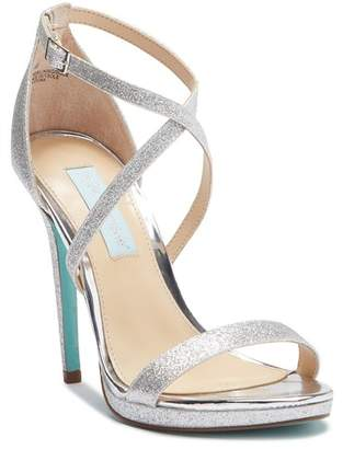 Betsey Johnson Andi Glitter High Heel Sandal