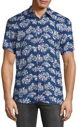 Bertigo Men's Paisley Button-Down Shirt