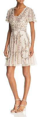 Aidan Mattox Embellished Mesh Dress